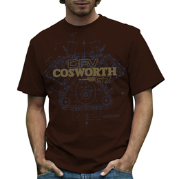 Cosworth DFV Mens T-shirt Brown