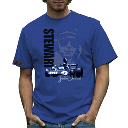 Jackie Stewart Mens T-shirt Blue