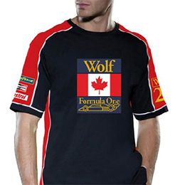 WOLF RACING CONTRAST Mens T-shirt